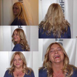 Aus glatten Haaren macht Andrea Bachmayer auch schnell mal lockige Haare.